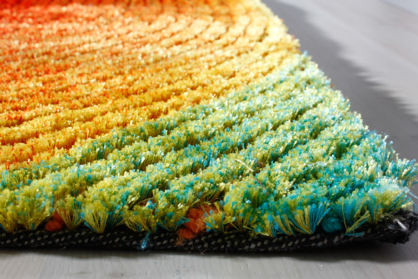 tuft teppich retro design regenbogen bunt sonne planet tuftvelours kontur ebay. Black Bedroom Furniture Sets. Home Design Ideas