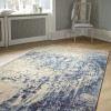 Webteppich Antique in beige-blau