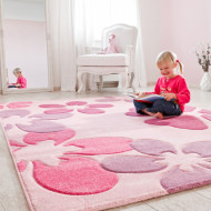 Kinderteppich Flair Carving in pink